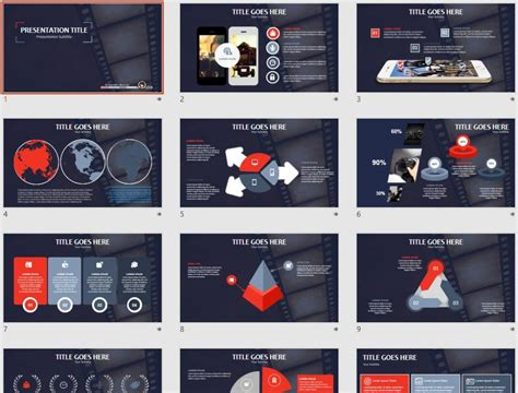 powerpoint themes movie powerpoint templates free movie image collections
