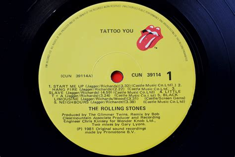 the rolling stones tattoo you rolling stones records 1c rolling stones tattoo you vinyl rockstuff