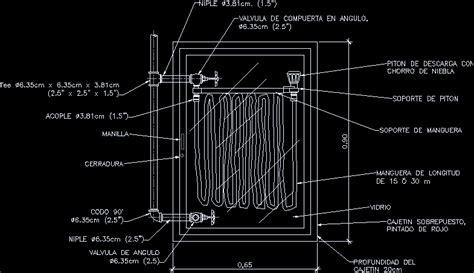 fire hose wall cabinet dwg block autocad designs cad