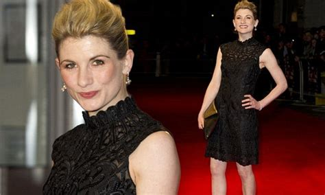 jeff sessions whittaker jodie whittaker shows off porcelain skin in black dress at