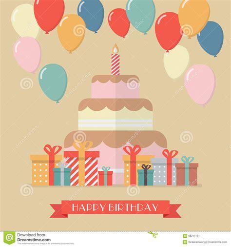 imagenes de happy birthday originales tarjeta de felicitaci 243 n del vintage del feliz cumplea 241 os
