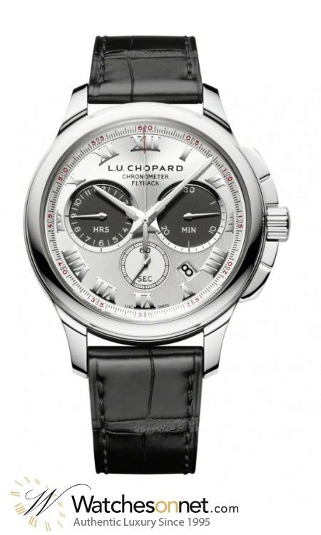 Chopard Number Leather White 1 chopard l u c 161928 1001 s 18k white gold chronograph