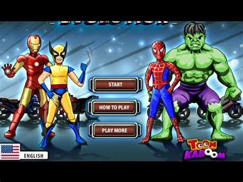 spiderman hulk iron man heroes evolution game kid