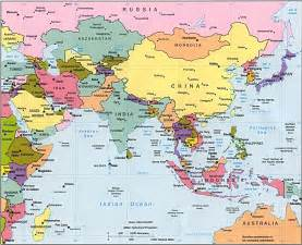 Asia On A Map by China Map Locations In Asia Area China Map Cities Tourist