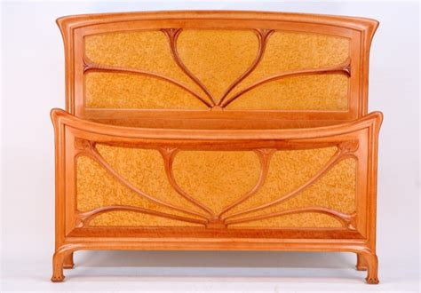 Art Deco Kitchen Cabinets Art Nouveau Queen Bed Traditional Panel Beds Other