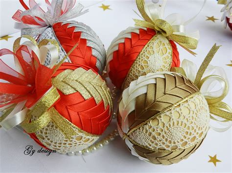 Handmade Ornaments For - lovely lace ornament quilted ornaments baubles