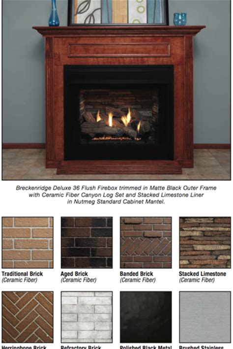 The Fireplace Breckenridge by The Breckenridge Collection Vent Free Fireboxes