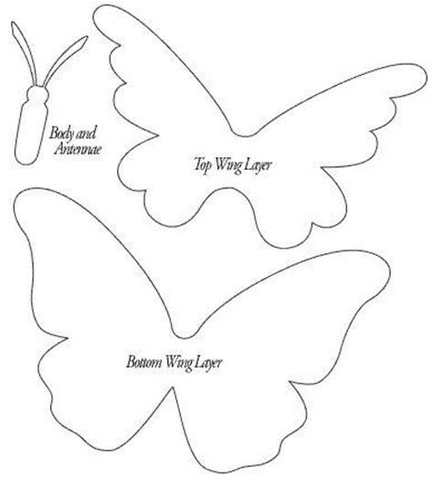 half butterfly template moldes mariposa de goma manualidades en goma y