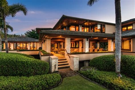 house in hawaiian kaua i beachfront estate with over 400 feet of white sand