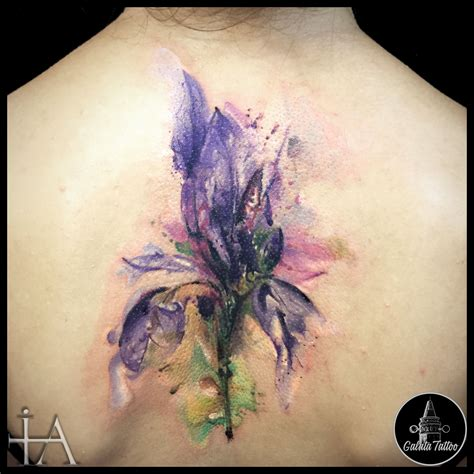 iris tattoo watercolor iris flower my works