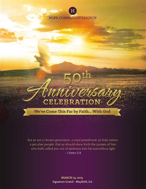 Church Anniversary Service Program Large Template By Michael Taylor Flipsnack Church Program Covers Templates