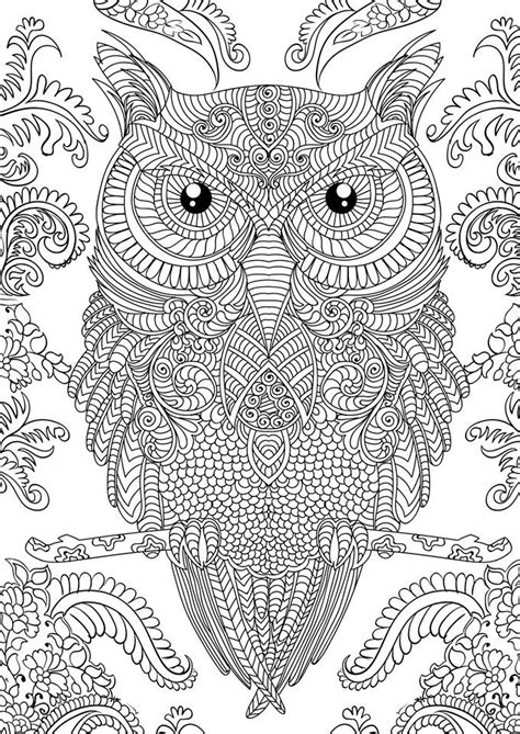 Coloring Pages For owl coloring pages for adults free detailed owl coloring