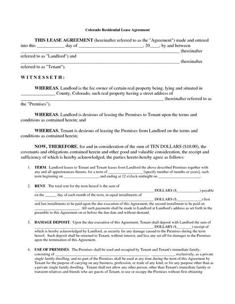 printable rental agreement template printable rental agreement helloalive
