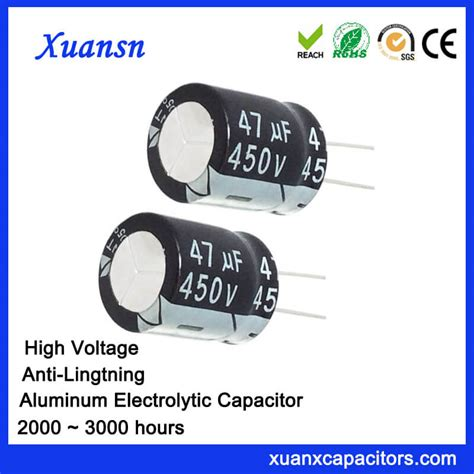 high voltage capacitors high voltage electrolytic capacitor 47uf 450v high voltage