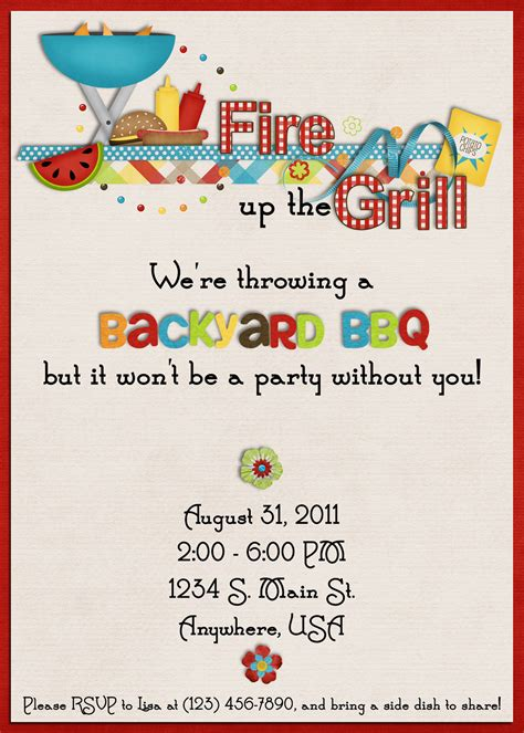 cookout invitation template 16 free printable cookout invitations template images