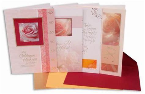 Hochzeits Zubehör by Goldene Hochzeit Karten Motiv 4 Stck