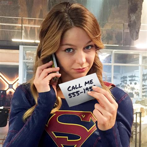 tattoo girl tv show 2015 supergirl melissa benoist gives out her number