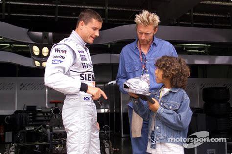 Boris Becker and his son Noah visiting David Coulthard and