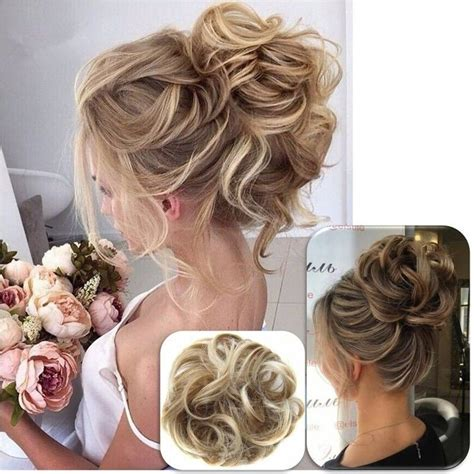 Wedding Hair Bun Extensions by Wavy Hair Extensions Ponytail Bun