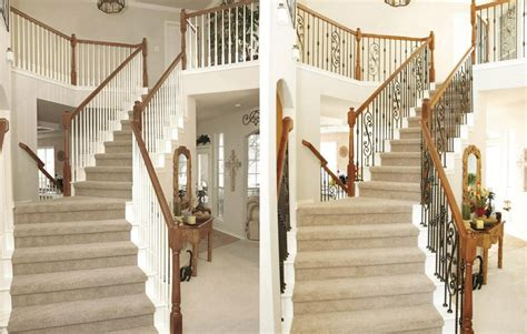banister spindles replacement stair design before and after exles stair parts