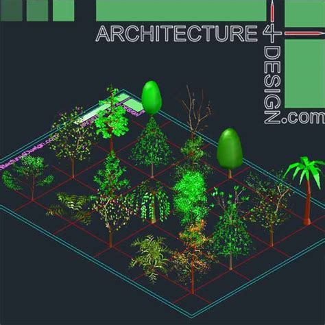 Where Can I Use Home Design Credit Card Autocad 3d Trees And Shrubs Models Dwg File