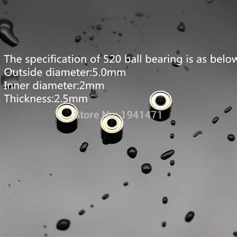 Custom 520 Bearings 10 Pcs Set For Roller Tamiya Mini 4wd 94752 mini 4wd 520 bearing self made parts tamiya mini 4wd 520 bearing for mini 4wd