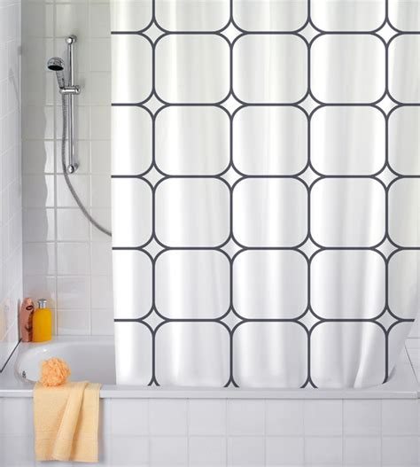 anti mold shower curtain wenko cube white anti mold polyester shower curtain
