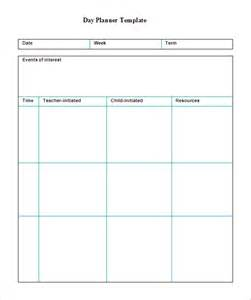 daybook template 6 printable day planner templates free word excel pdf
