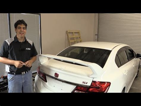 how to install a spoiler on a honda civic pro design trm style spoiler wing install honda civic