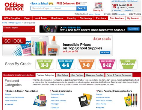 Office Depot Website by Merchants Ready To Profit With Back To School Promotions