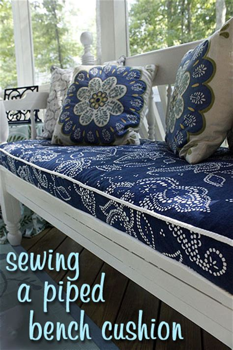 how to make a bench cover sewing a bench cushion with piping pretty handy girl