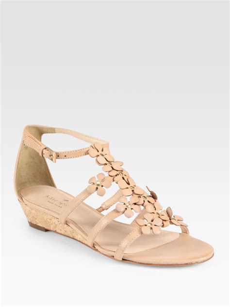 Kate Spade Wedges 1 kate spade new york vikki leather cork wedge sandals in lyst