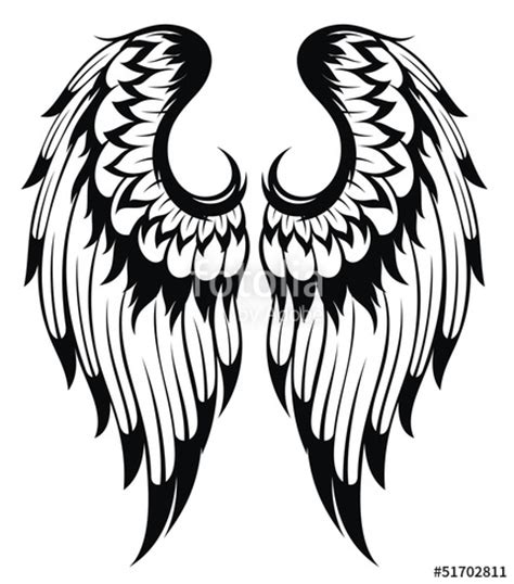 quot black wings silhouette tattoo design quot stock image and