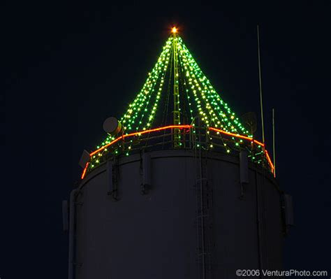 pictures of water tower with christmas lights camarillo