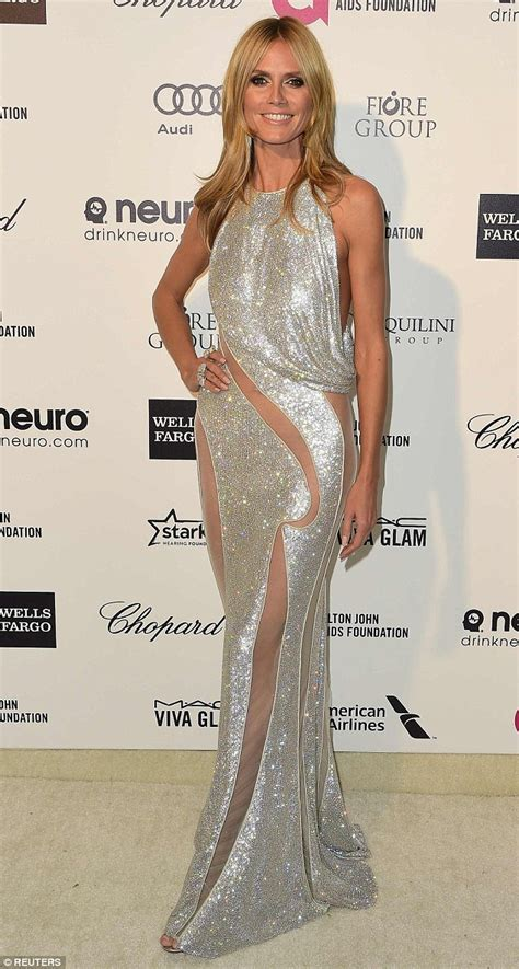 Which Heidi Klum Oscar Gown Was The Most Fab by Heidi Klum Forgoes In Racy Sheer Sparkling
