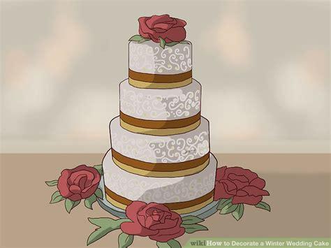 Wedding Cake Decorating Step By Step 3 ways to decorate a winter wedding cake wikihow