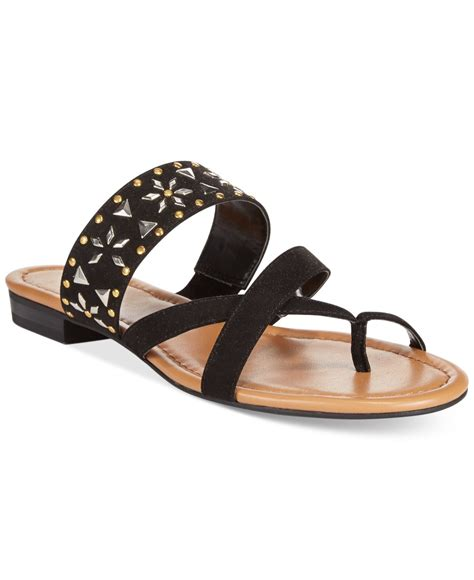 macys shoes style co behati embellished flat sandals only at macy