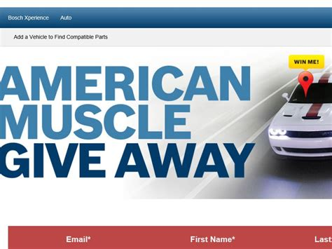 American Muscle Sweepstakes - the bosch american muscle car sweepstakes
