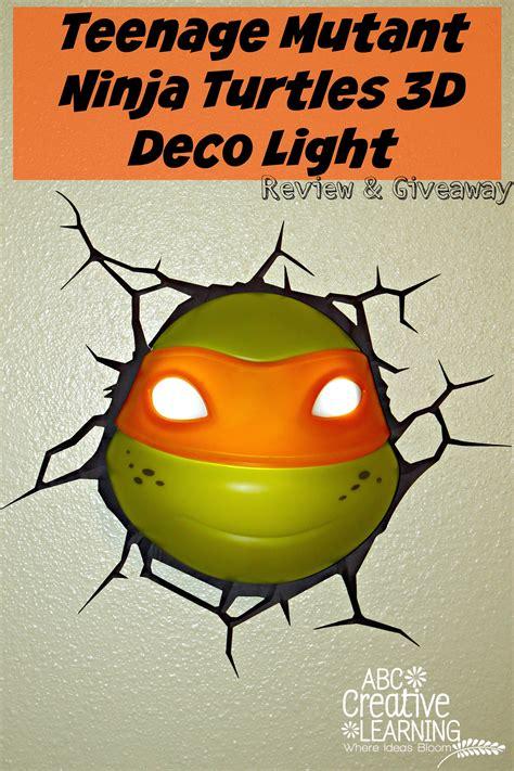 teenage mutant ninja turtles light teenage mutant ninja turtles 3d deco light review