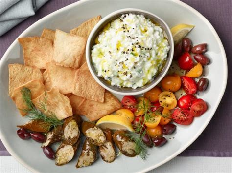 tzatziki ina garten cottage cheese tzatziki mezze plate recipe food network