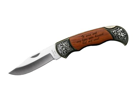 engraved knife custom engraved quote on rosewood pocket knife gift