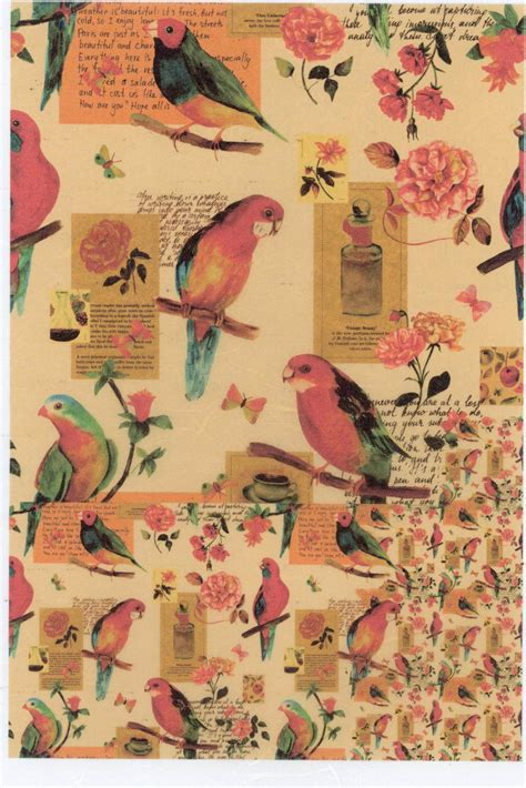 Decoupage L - italy rice paper for decoupage l vintage birds rice paper