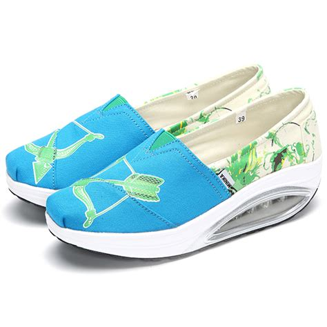 zero drop casual shoes casual canvas slip on rocker sole shoes toe health