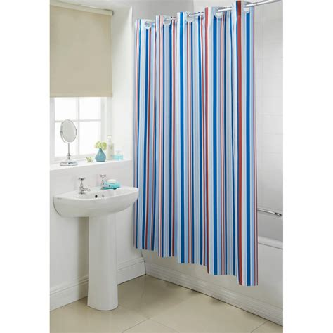 nautical bathroom curtains b m gt hookless shower curtain nautical stripe 2952176