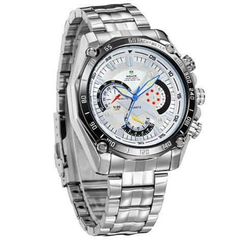 Jam Tangan Pria Weide Japan Quartz Wh5201 White weide jam tangan analog digital pria wh1011 white silver jakartanotebook