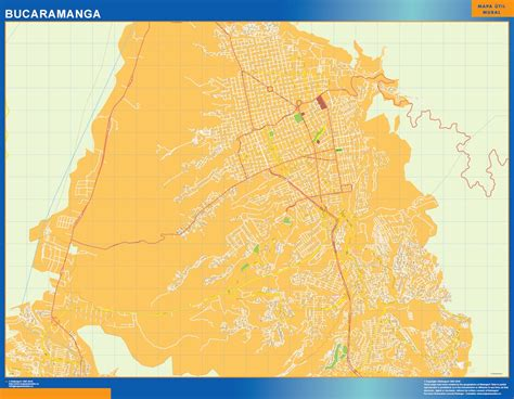 bucaramanga map map of bucaramanga netmaps usa wall maps shop