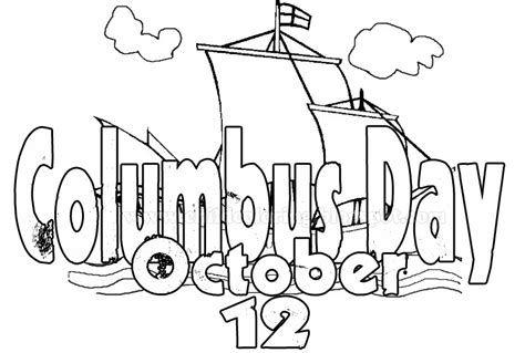 columbus day printable coloring pages
