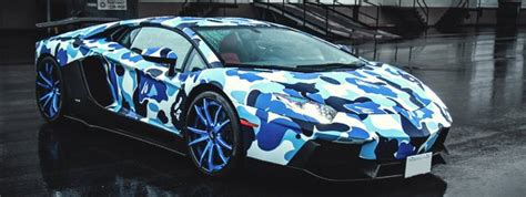 camo bugatti a lamborghini in camouflage by nigo of a bathing ape