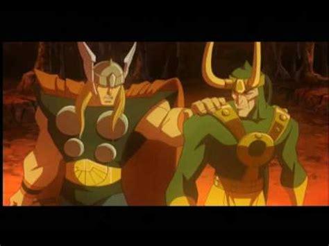 animated film vs cartoon hulk vs thor animated film thor and loki go to hell youtube
