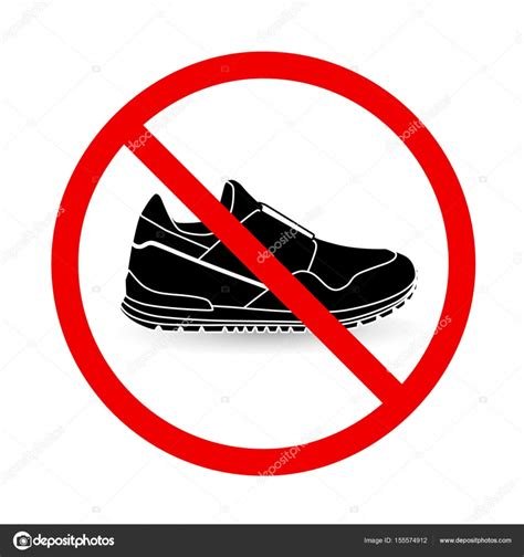 with no shoes no shoes sign vector free shoes ideas